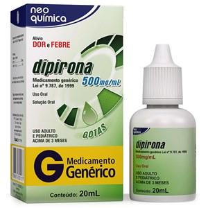 DIPIRONA 500MG/ML GOTAS 20ML - NEO QUÍMICA - GENÉRICO